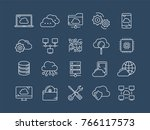 cloud omputing. internet... | Shutterstock .eps vector #766117573