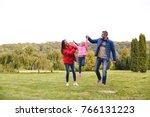 happy young family having fun... | Shutterstock . vector #766131223