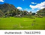 village in 2000 year old batad... | Shutterstock . vector #766132993