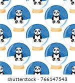 seamless vector pattern. pfnda... | Shutterstock .eps vector #766147543