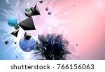 abstract broken forms on... | Shutterstock .eps vector #766156063