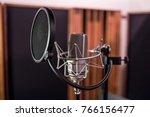 studio voice microphone  | Shutterstock . vector #766156477