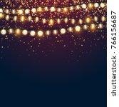 beautiful dark blue christmas... | Shutterstock .eps vector #766156687