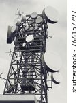 telecommunication mast tv... | Shutterstock . vector #766157797