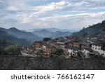 sunset in the yangchan tulou ... | Shutterstock . vector #766162147