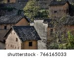 a detail of a small earthen... | Shutterstock . vector #766165033