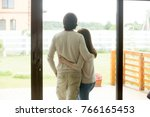 couple standing at home ... | Shutterstock . vector #766165453