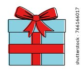 gift box present icon | Shutterstock .eps vector #766166017