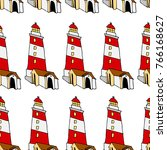 lighthouse vector illustration. ... | Shutterstock .eps vector #766168627