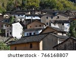 the yangchan tulou  the chinese ... | Shutterstock . vector #766168807