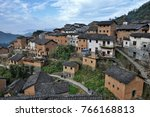 the yangchan tulou  the chinese ... | Shutterstock . vector #766168813