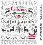 vector christmas design... | Shutterstock .eps vector #766182163