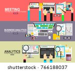 business analytic graph report .... | Shutterstock .eps vector #766188037