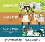 calculation concept.... | Shutterstock .eps vector #766188043