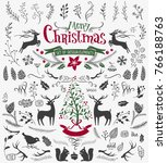 vector christmas design... | Shutterstock .eps vector #766188763