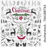 vector christmas design... | Shutterstock .eps vector #766188763