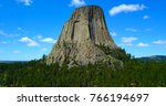 devil's tower in wyoming  usa | Shutterstock . vector #766194697