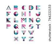 vector multicolor geometric... | Shutterstock .eps vector #766222153