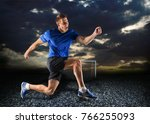 athletic body  attractive woman. | Shutterstock . vector #766255093
