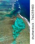 aerial view of ningaloo reef... | Shutterstock . vector #766255483