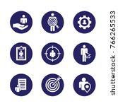 target market icons of buyer... | Shutterstock .eps vector #766265533
