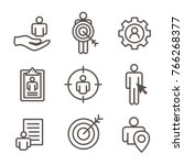 target market icons of buyer... | Shutterstock .eps vector #766268377