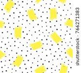 irregular polka dots and brush... | Shutterstock .eps vector #766271383