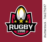 rugby sports logo  rugby badge | Shutterstock .eps vector #766275247