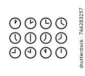 clock vector icon | Shutterstock .eps vector #766283257