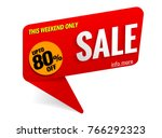 sale banner red | Shutterstock .eps vector #766292323