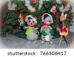 decorated indoor christmas tree ...   Shutterstock . vector #766306417