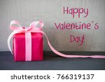 pink present  text happy... | Shutterstock . vector #766319137