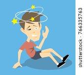 dizzy man falling down vector...   Shutterstock .eps vector #766335763