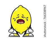 cartoon crying lemon character | Shutterstock .eps vector #766338967