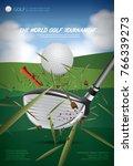 poster golf championship vector ... | Shutterstock .eps vector #766339273