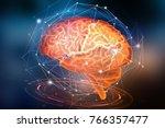 artificial neural network.... | Shutterstock . vector #766357477