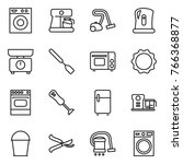 thin line icon set   washing... | Shutterstock .eps vector #766368877