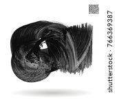 grey brush stroke and texture.... | Shutterstock .eps vector #766369387