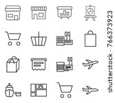 thin line icon set   shop ... | Shutterstock .eps vector #766373923