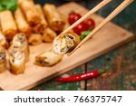 vietnamese food. delicious... | Shutterstock . vector #766375747