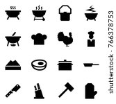 origami style icon set   bbq... | Shutterstock .eps vector #766378753