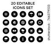 climate icons. set of 20...   Shutterstock .eps vector #766379533