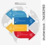 modern info graphic template... | Shutterstock .eps vector #766382983