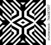 illusive tile with black white... | Shutterstock .eps vector #766387207