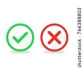 check mark icons. vector...   Shutterstock .eps vector #766388803