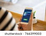 payment online shopping nfc... | Shutterstock . vector #766399003