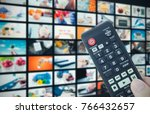 multimedia video wall... | Shutterstock . vector #766432657