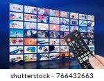 multimedia video wall... | Shutterstock . vector #766432663