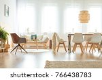 vintage chair and sofa in... | Shutterstock . vector #766438783