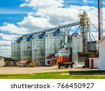 facilities for processing grain ... | Shutterstock . vector #766450927